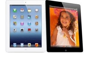 Apple iPad with Retina Display black and white versions side by side
