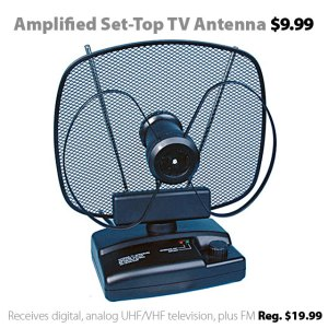Amplified Set-Top TV Antenna $9.99 (reg. $19.99)