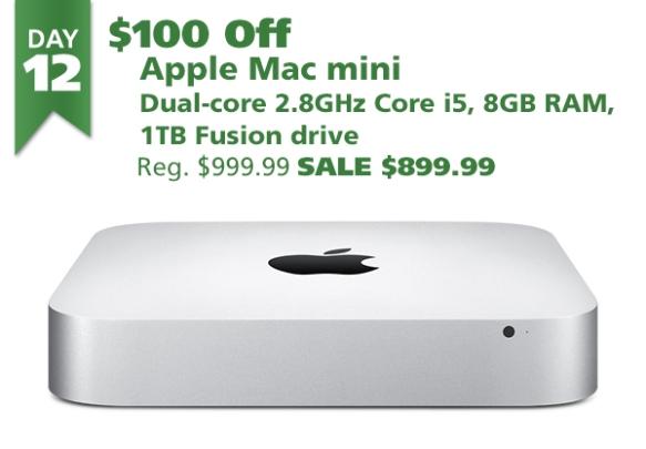 Apple Mac mini 2.8GHz Core i5 8GB 1 TB Fusion Drive for $899.99 ($100 off)