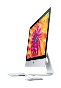 Apple iMac 27-inch slim side view