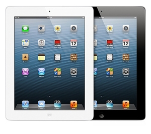 Apple iPad with Retina display, in white and black