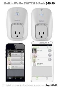 Belkin WeMo SWITCH 2-Pack for $49.99 at Connecting Point (reg. $99.99)