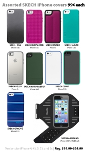 Deal of the Week at Connecting Point - Asst. SKECH iPhone covers for 99 cents each
