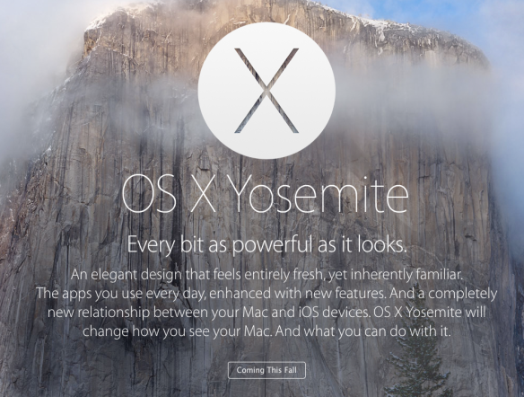 Apple OS X Yosemite public beta announced