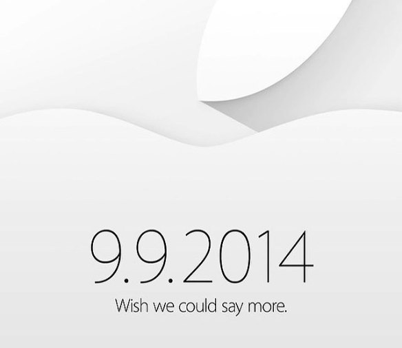 Apple invitation to special live event September 9, 2014
