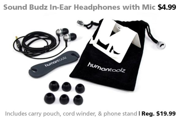 Sound Budz XST In-Ear Headphones for $4.99 (reg. $19.99)