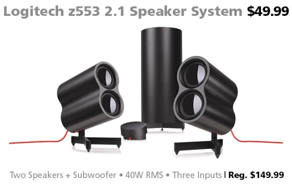 Logitech z553 2.1 Speaker System $49.99 (reg. $149.99)