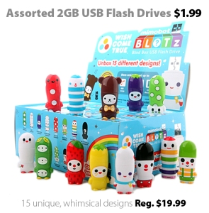 2GB MIMOBOT USB Drives for $1.99 at Connecting Point