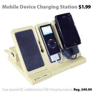 Mobile Device Charging Station on sale for $1.99 - reg. $49.99